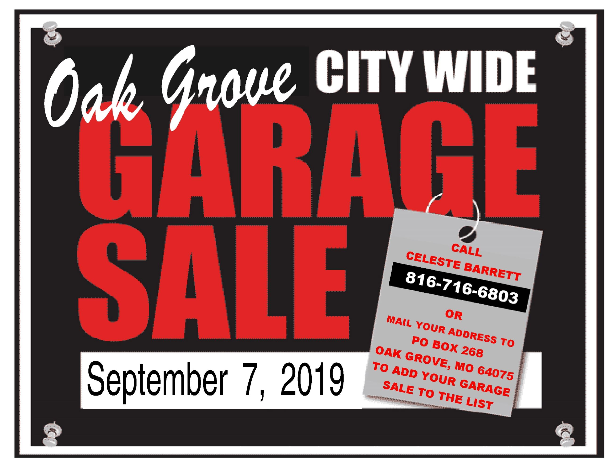 September garage sale poster